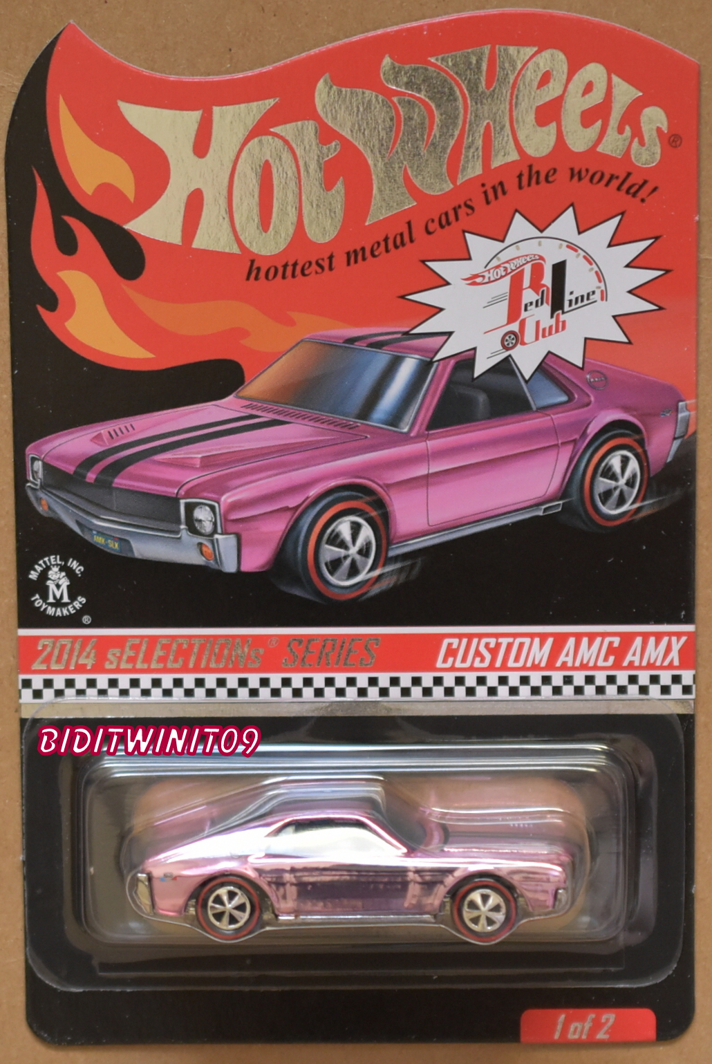 HOT WHEELS 2014 SELECTIONS SERIES RLC CUSTOM AMC AMX E+ [0015152