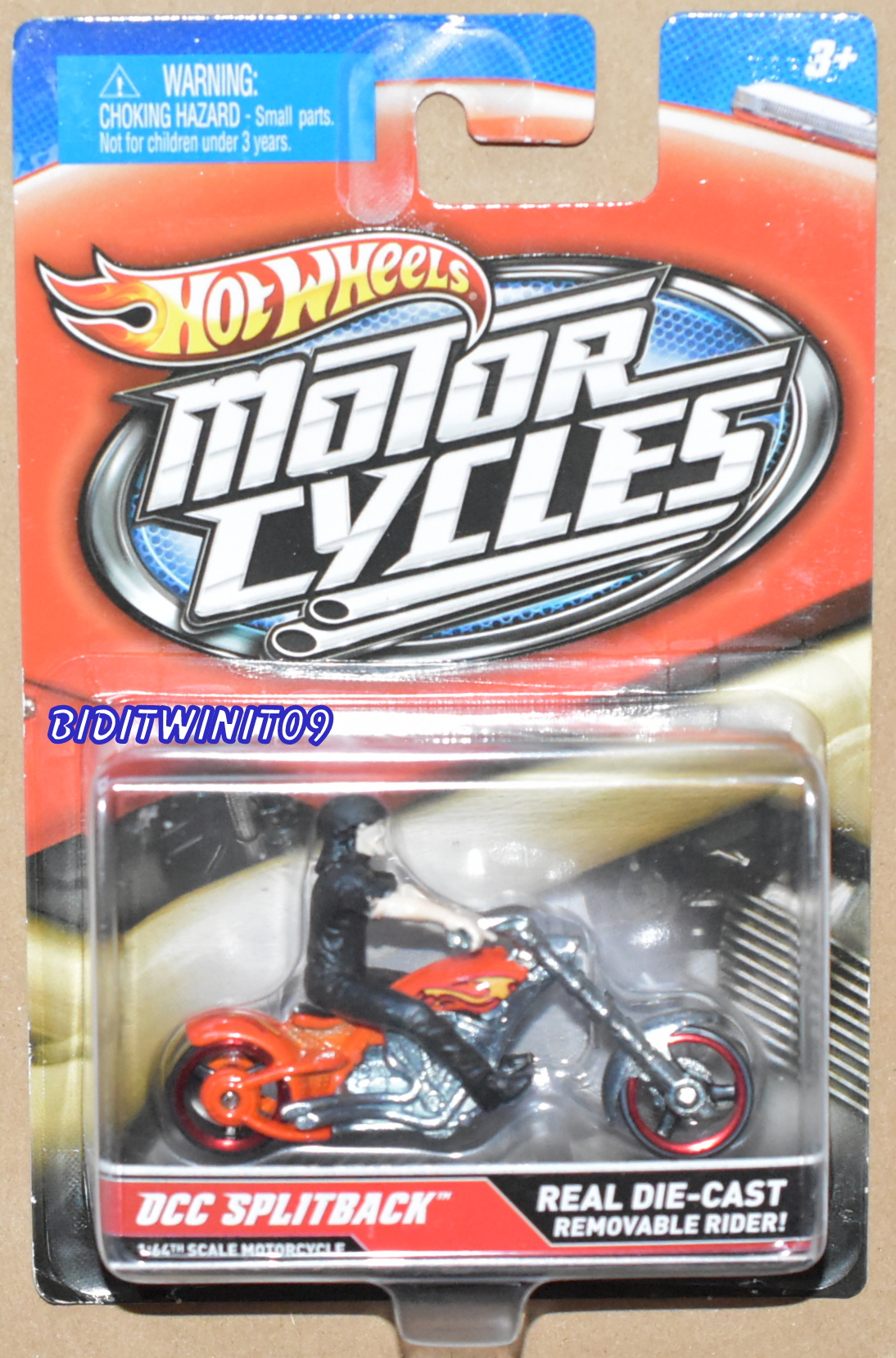HOT WHEELS MOTOR CYCLES OCC SPLITBACK REAL DIE-CAST REMOVABLE RIDER