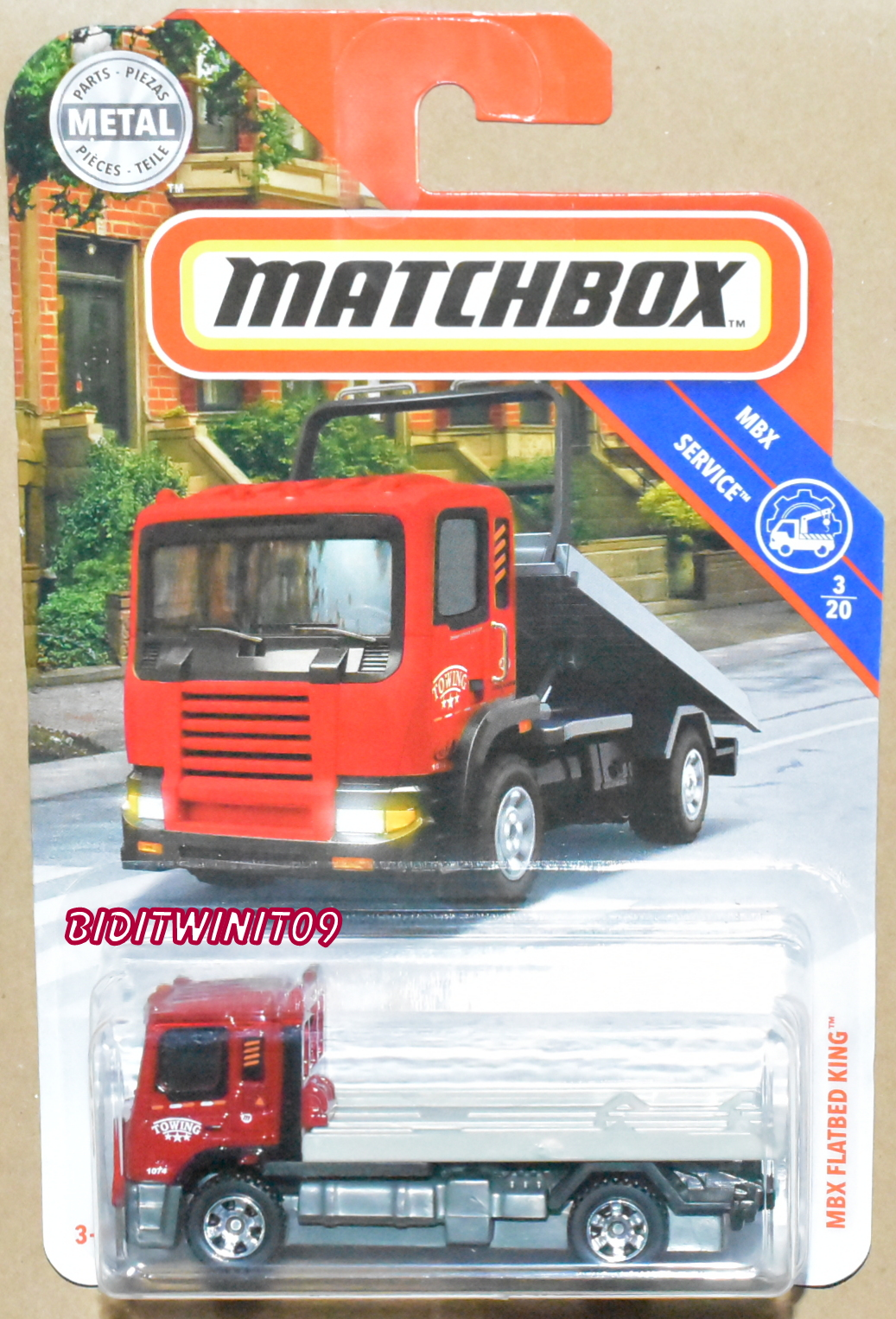 MATCHBOX 2018 MBX SERVICE MBX FLATBED KING RED