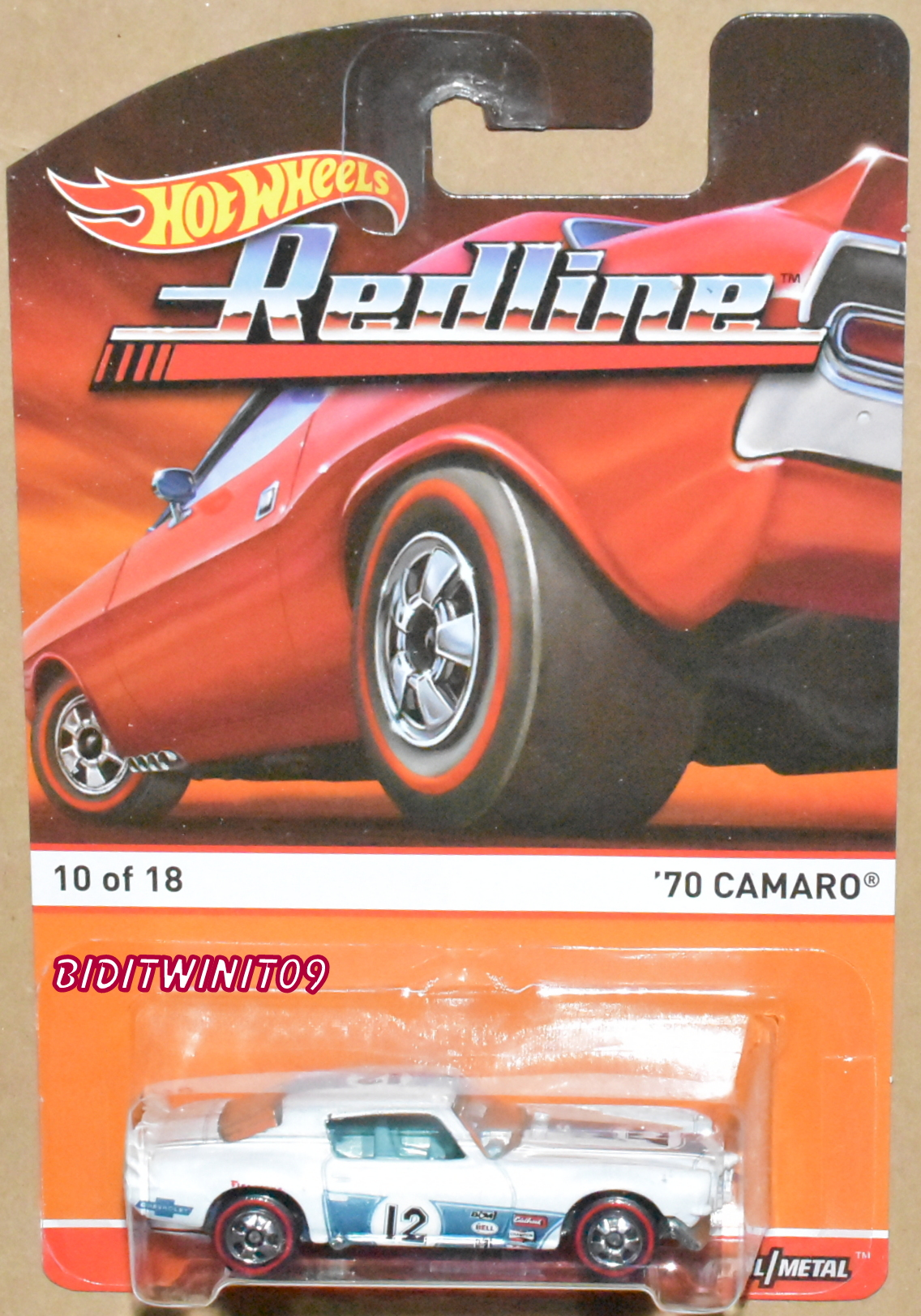 HOT WHEELS 2015 REDLINE '70 CAMARO #10/18 TAMPO ERROR E+