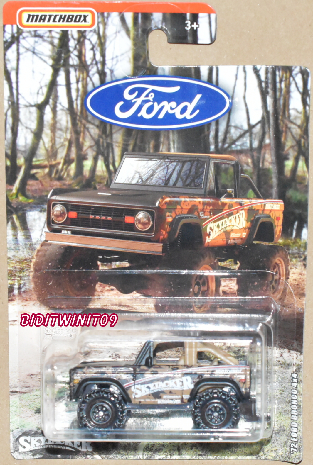 MATCHBOX 2018 '72 FORD F-150 BRONCO 4X4