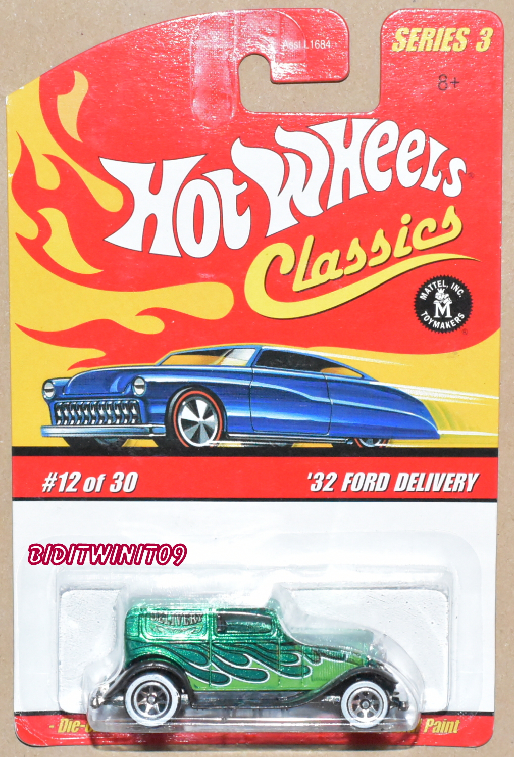HOT WHEELS CLASSICS SERIES 3 '32 FORD DELIVERY #12/30 E+