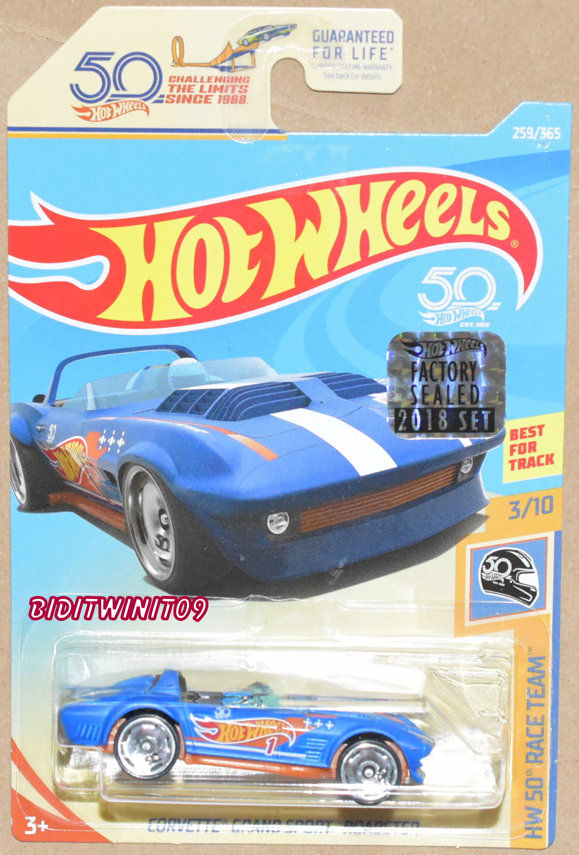 HOT WHEELS 2018 50th RACE TEAM CORVETTE GRAND SPORT ROADSTER FACTORY SEALED