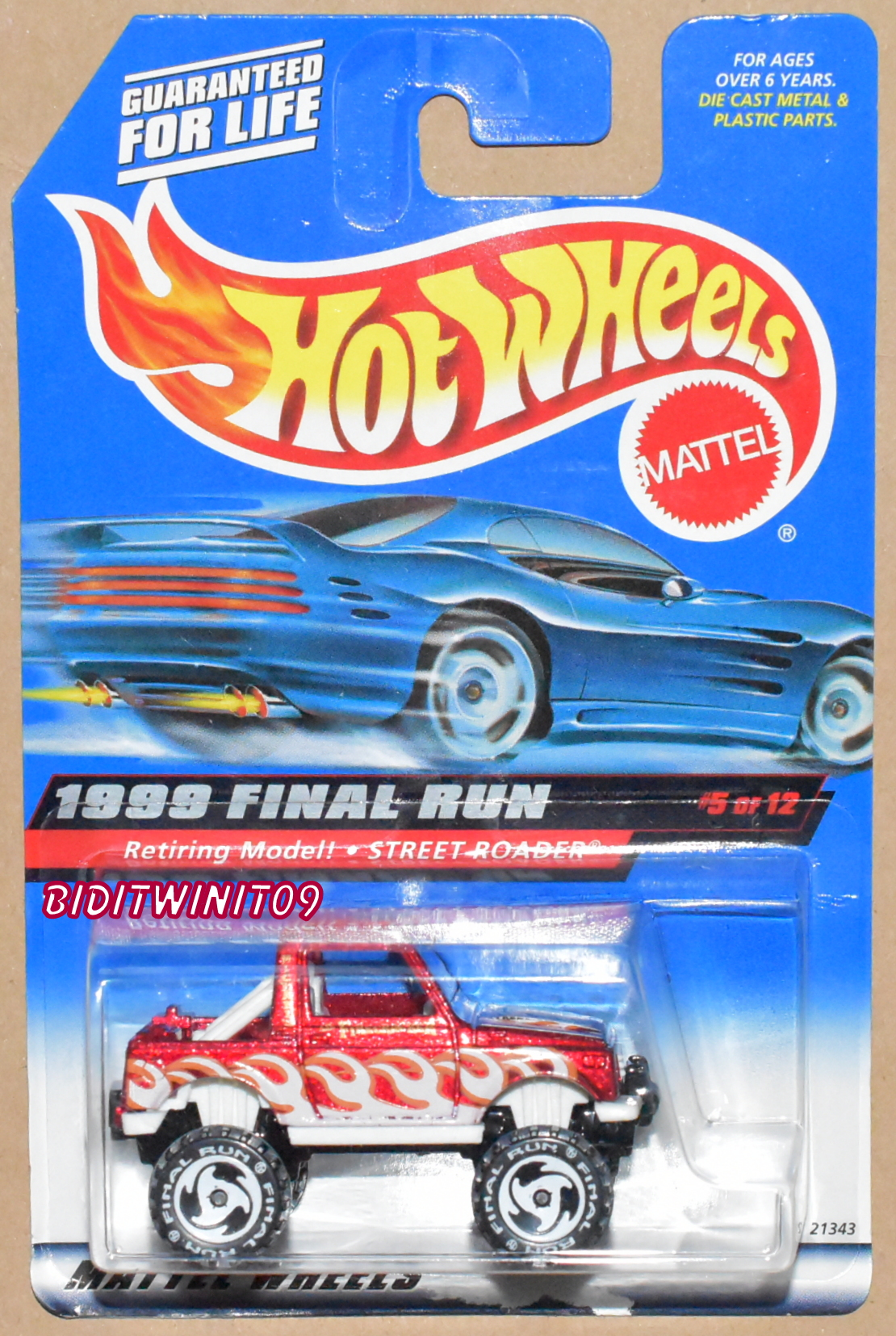 HOT WHEELS 1999 FINAL RUN - RETIRING MODEL - STREET ROADER