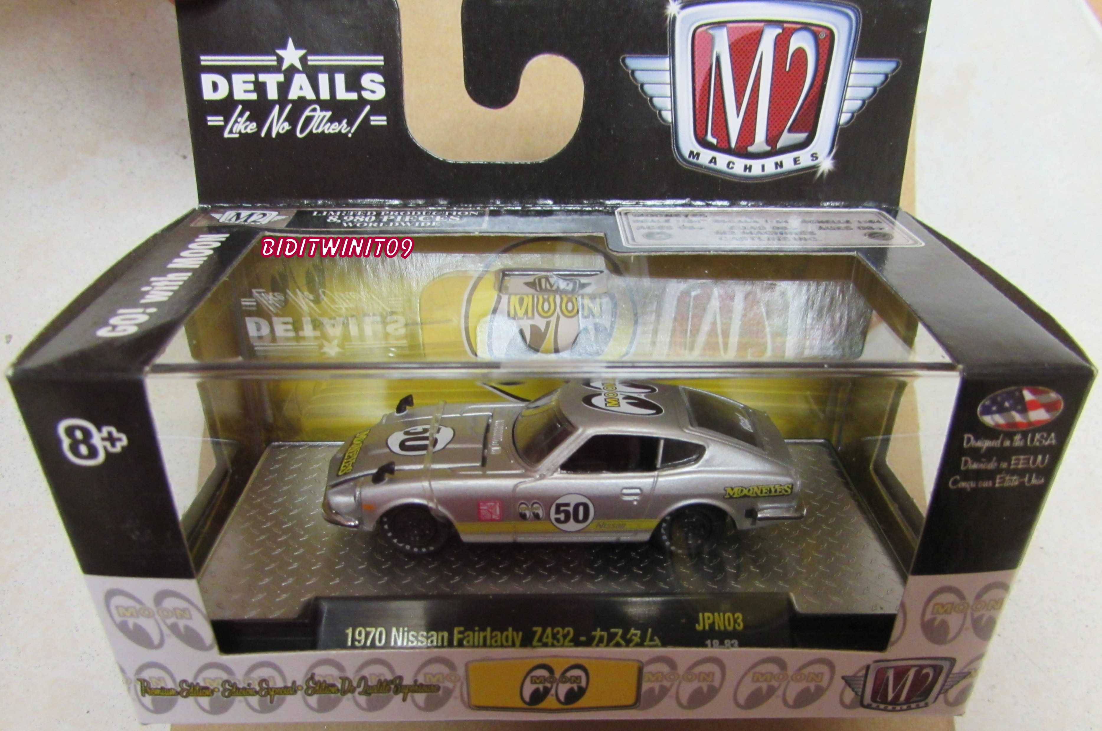 M2 MACHINES MOONEYES 1970 NISSAN FAIRLADY Z432 JPN03 SILVER