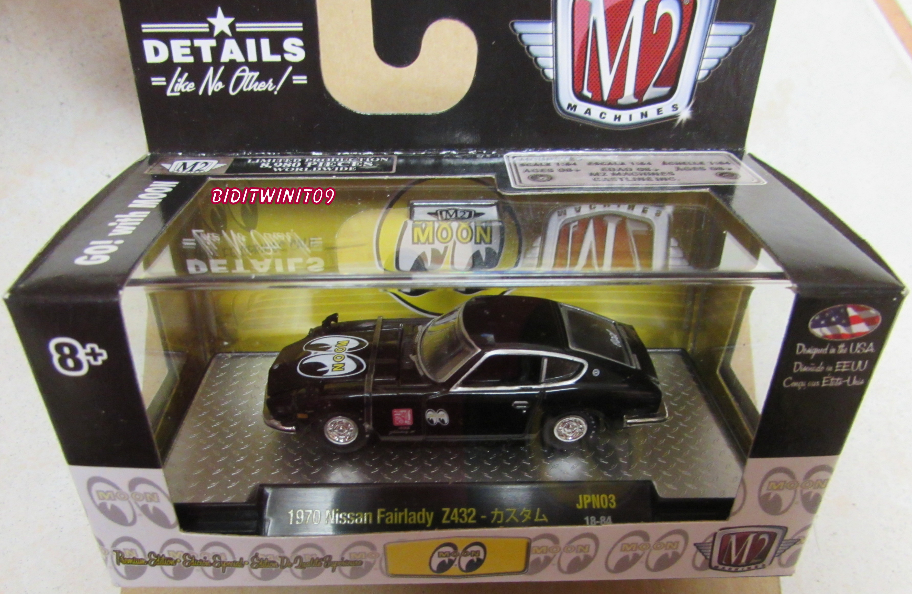 M2 MACHINES MOONEYES 1970 NISSAN FAIRLADY Z432 JPN03 BLACK