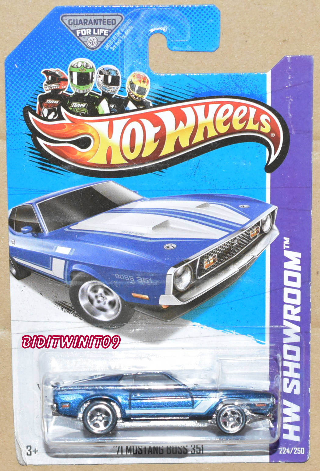 HOT WHEELS 2013 HW SHOWROOM - THEN & NOW '71 MUSTANG BOSS 351