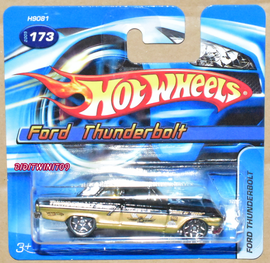 HOT WHEELS 2005 FORD THUNDERBOLT BLACK SHORT CARD E+