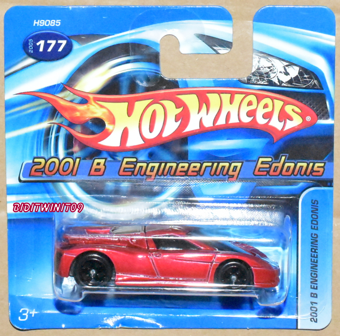 HOT WHEELS 2005 2001 B ENGINEERING EDONIS #177 RED SHORT CARD E+