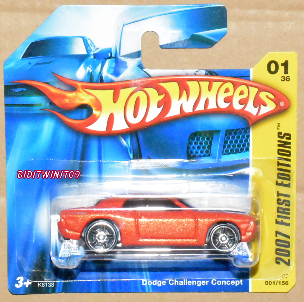 HOT WHEELS 2007 FIRST EDITIONS DODGE CHALLENGER CONCEPT ORANGE SHORT CARD E+