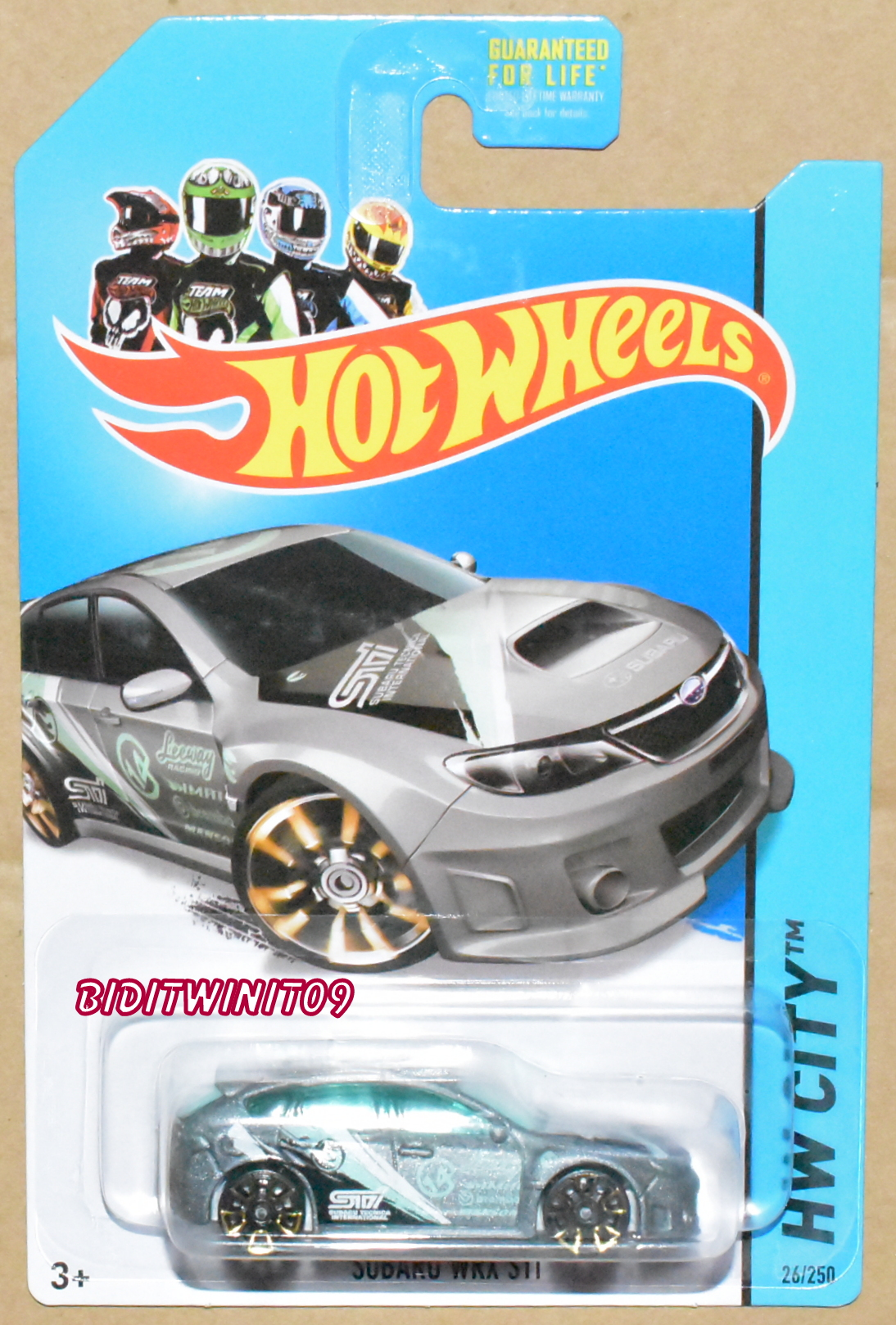 HOT WHEELS 2014 REG. TREASURE HUNT SUBARU WRX STI