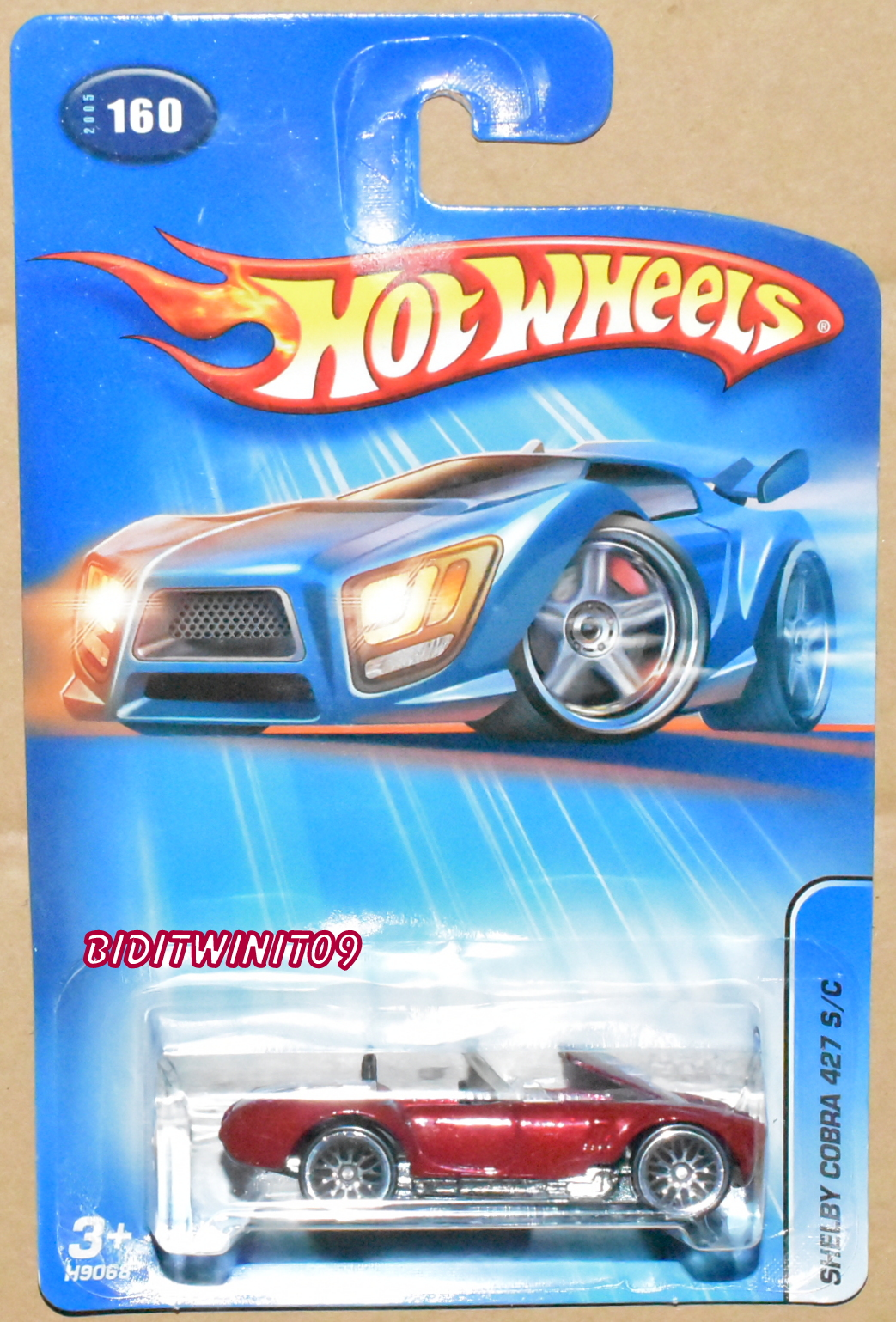 HOT WHEELS 2005 SHELBY COBRA 427 S/C #160 RED