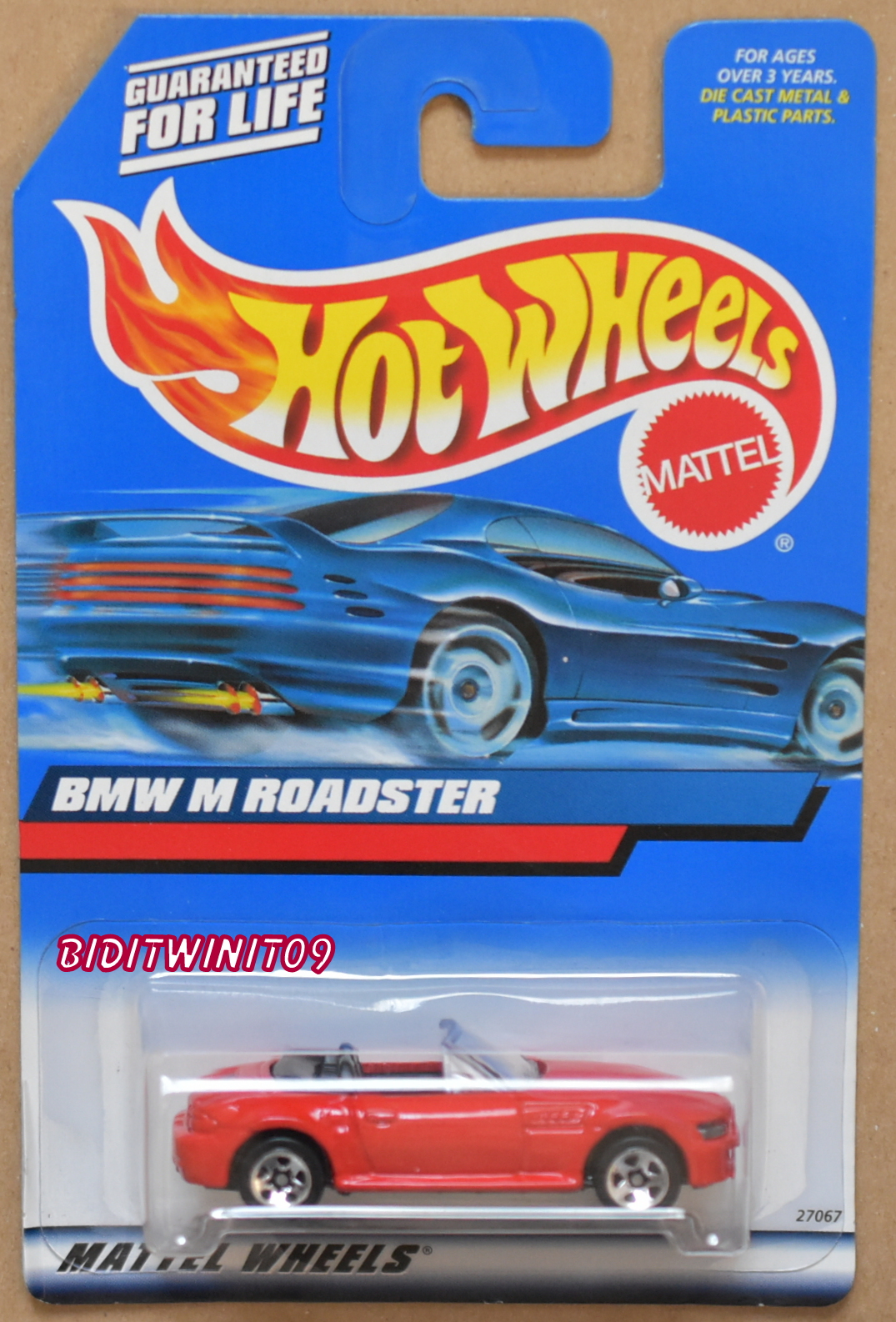 HOT WHEELS 2000 BMW M ROADSTER RED