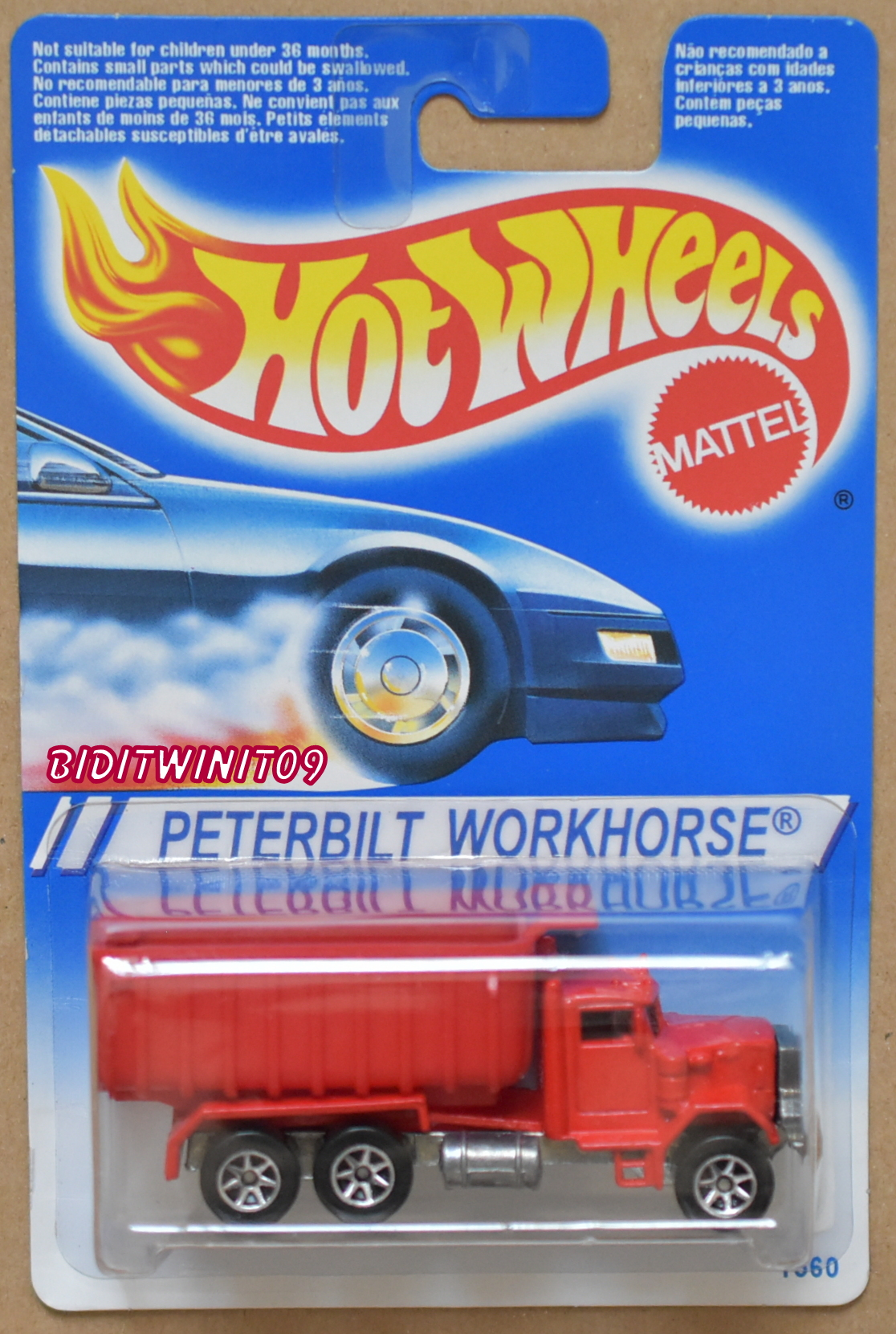 HOT WHEELS 1994 PETERBILT WORKHORSE RED E+