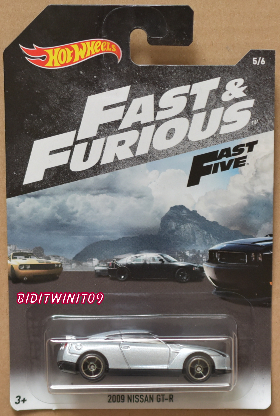HOT WHEELS 2018 FAST & FURIOUS 2009 NISSAN GT-R WHITE