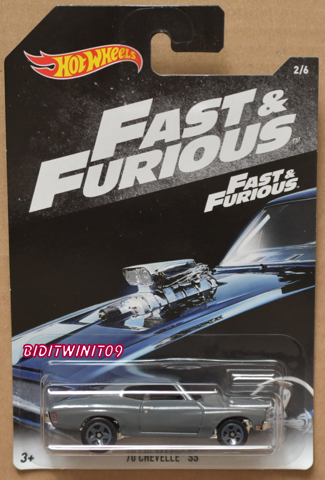 HOT WHEELS 2018 FAST & FURIOUS '70 CHEVELLE SS #2/6