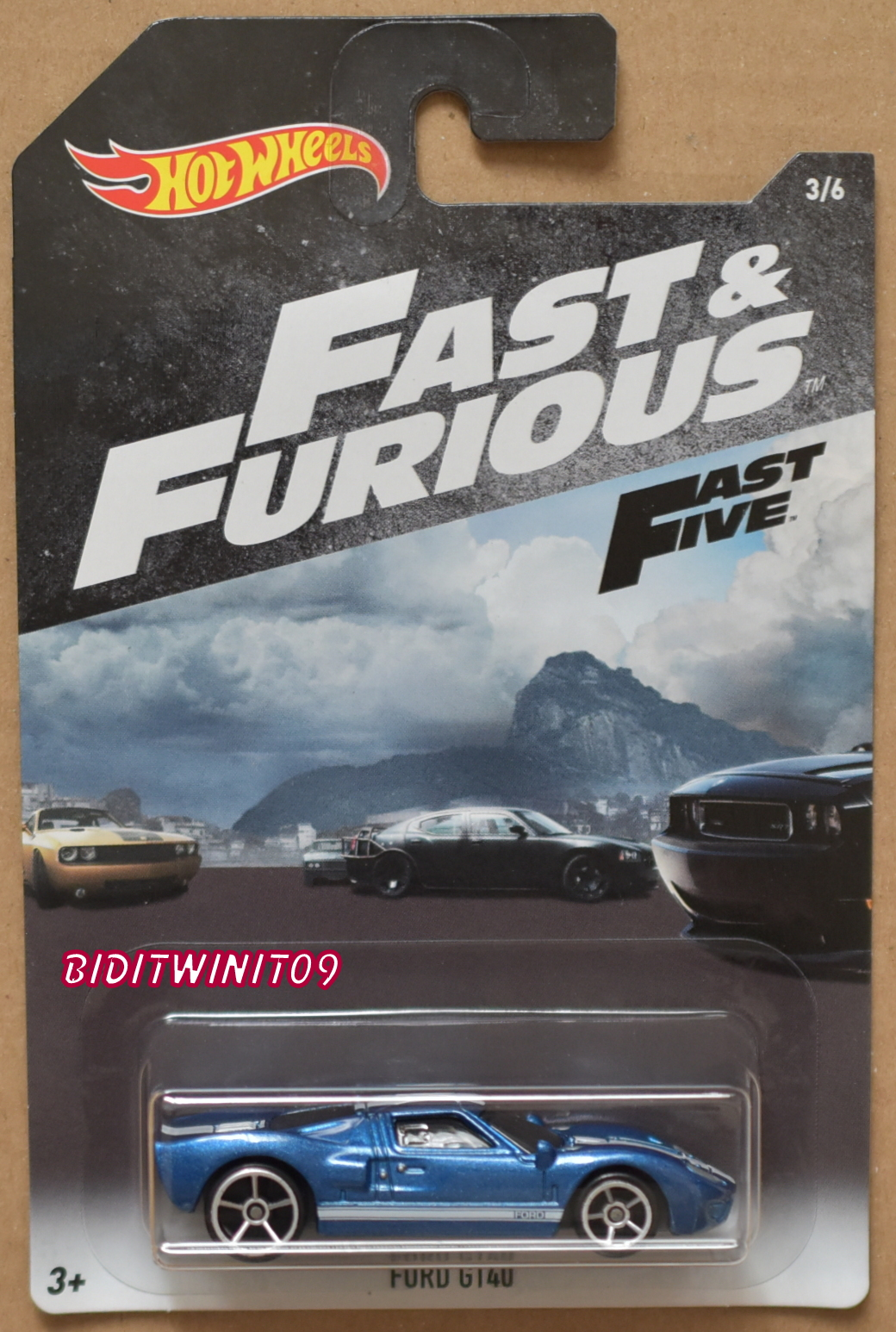 HOT WHEELS 2018 FAST & FURIOUS FORD GT40 BLUE