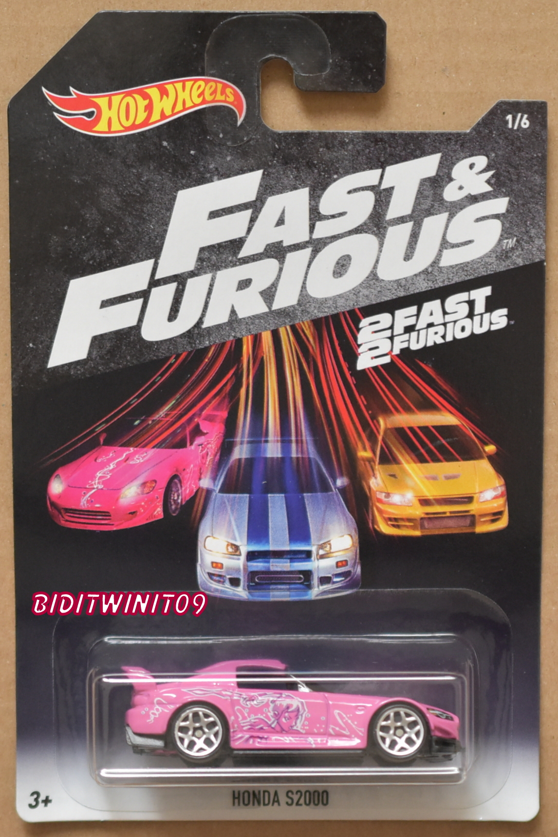 HOT WHEELS 2018 FAST & FURIOUS HONDA S2000 PINK