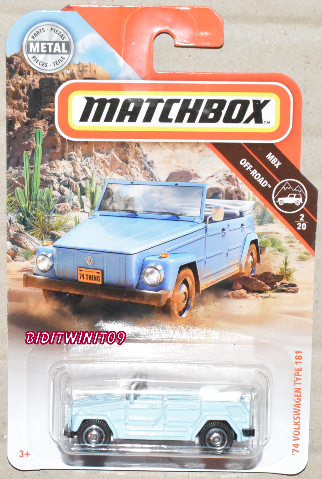 MATCHBOX 2019 MBX OFF-ROAD '74 VOLKSWAGEN TYPE 181
