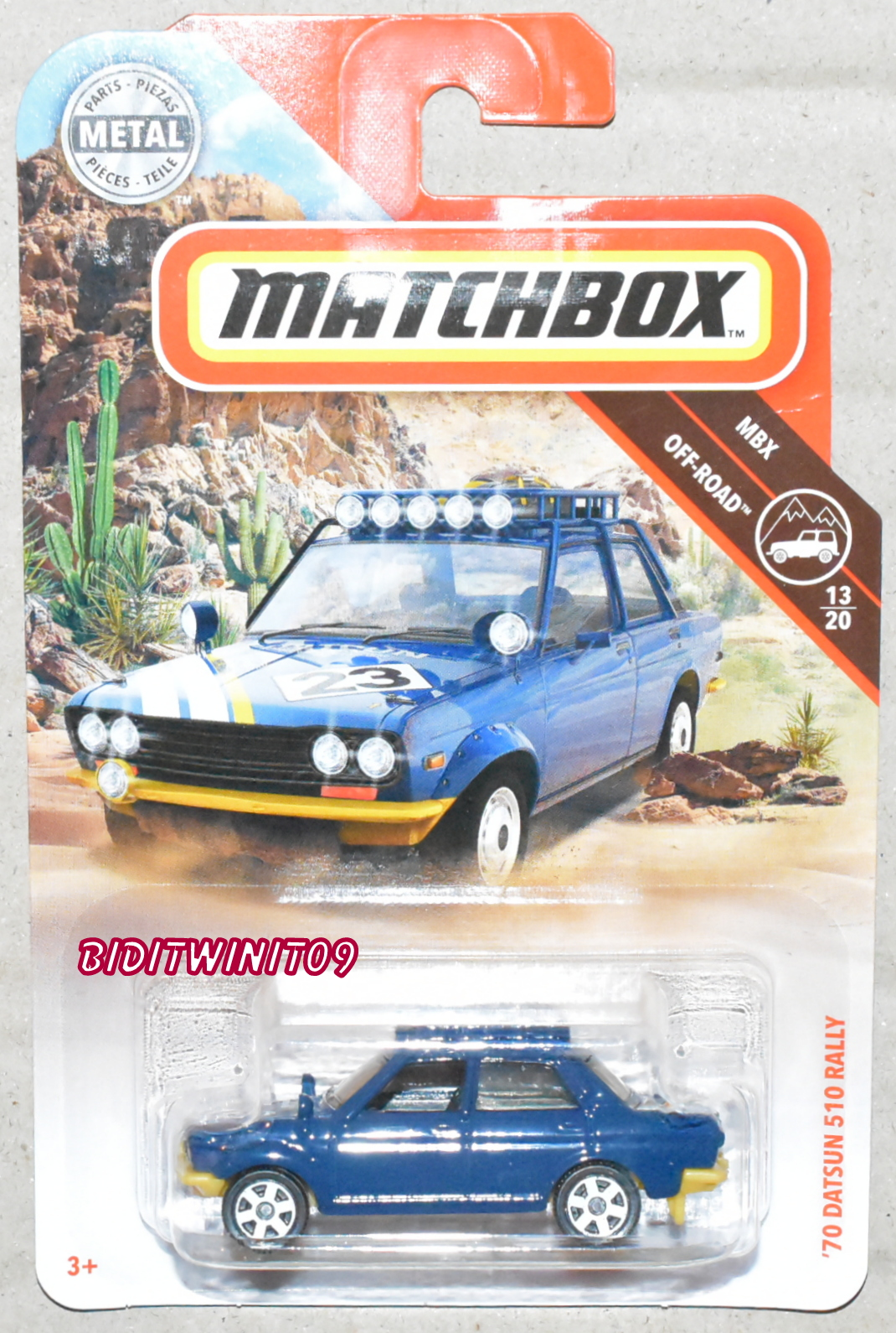 MATCHBOX 2019 MBX OFF-ROAD '70 DATSUN 510 RALLY BLUE