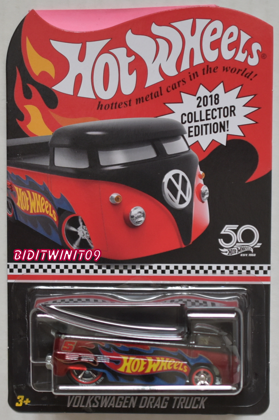 HOT WHEELS 2019 COLLECTOR EDITION VOLKSWAGEN DRAG TRUCK KMART MAILED IN