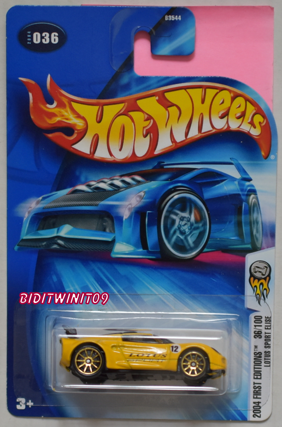 HOT WHEELS 2004 FIRST EDITIONS LOTUS SPORT ELISE #036 YELLOW E+