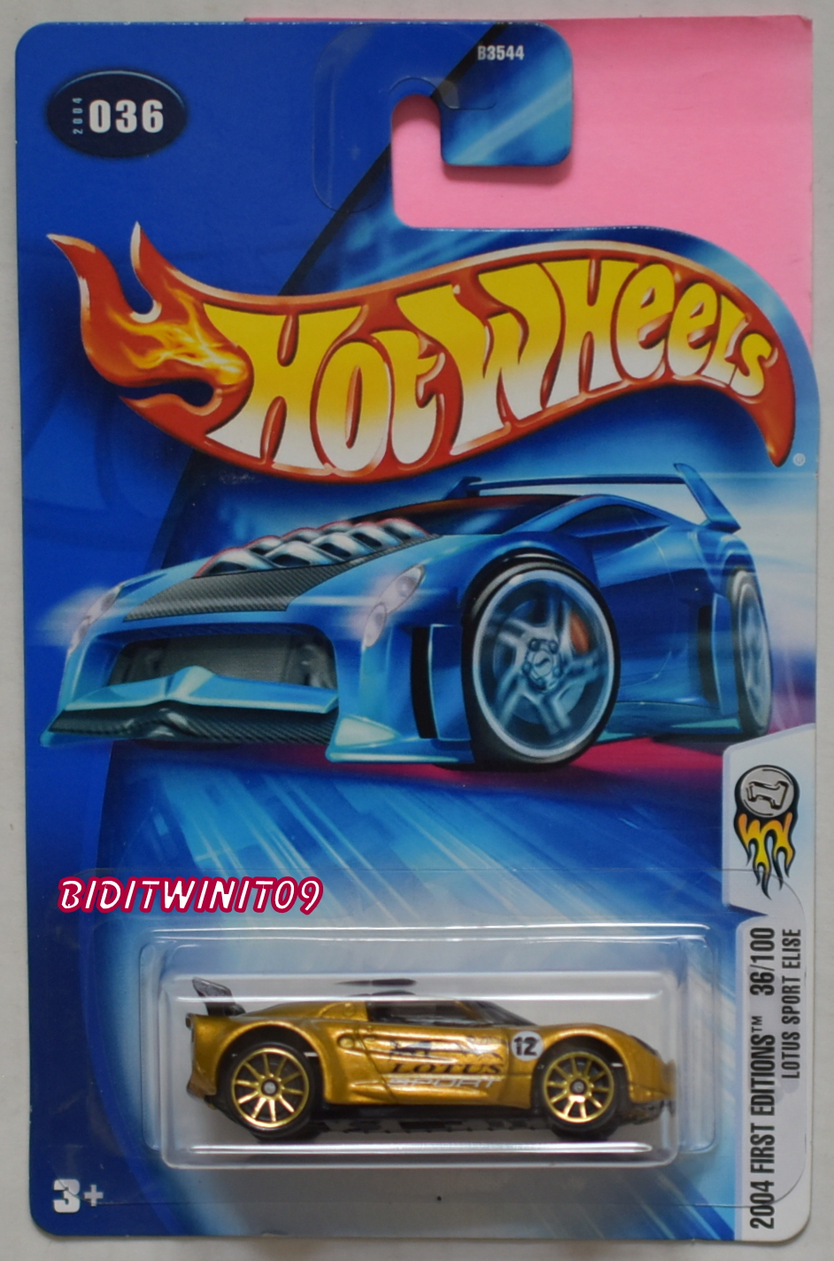 HOT WHEELS 2004 FIRST EDITIONS LOTUS SPORT ELISE GOLD E+