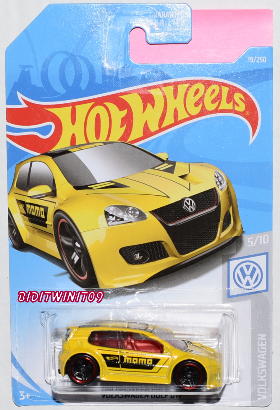 Hot Wheels 2019 Volkswagen Golf Gti Yellow 0017342 302