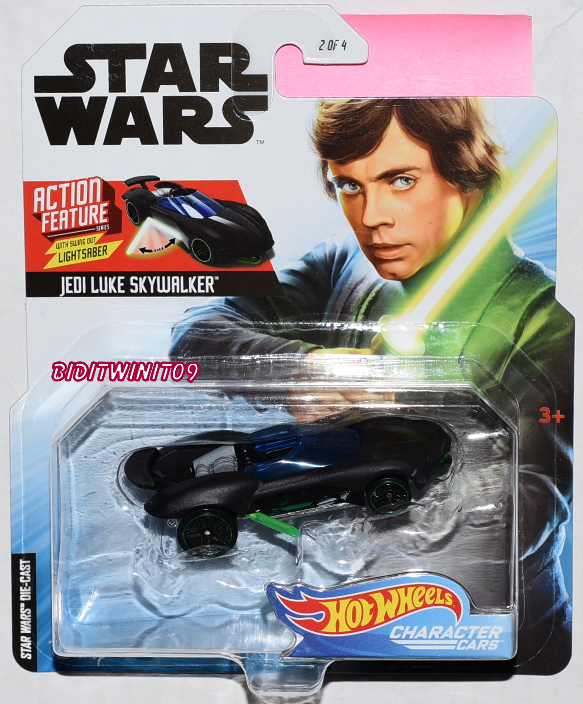 HOT WHEELS STAR WARS JEDI LUKE SKYWALKER ACTION FETURE CHARACTER CARS E+