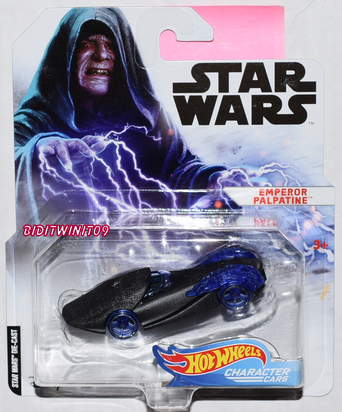 HOT WHEELS STAR WARS EMPEROR PALPATINE CHARACTER CARS E+