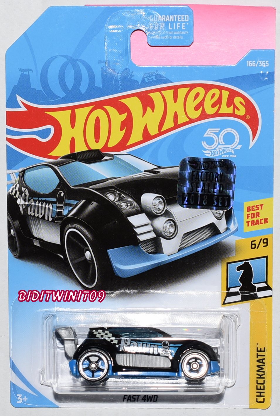 HOT WHEELS 2018 CHECKMATE FAST 4WD BLACK FACTORY SEALED