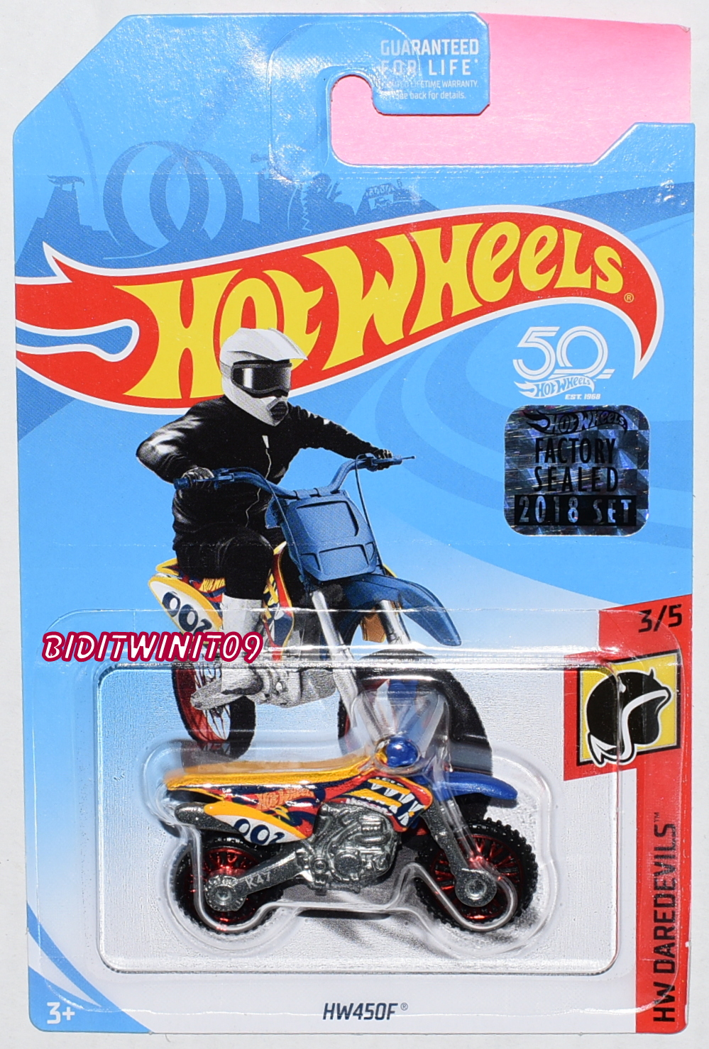 HOT WHEELS 2018 HW DAREDEVILS HW450F YELLOW FACTORY SEALED