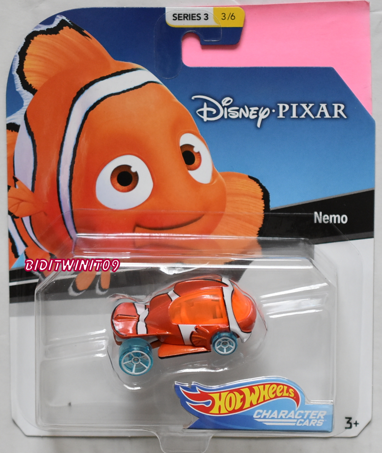 HOT WHEELS DISNEY SERIES 3 NEMO #3/6 CHARACTER CARS
