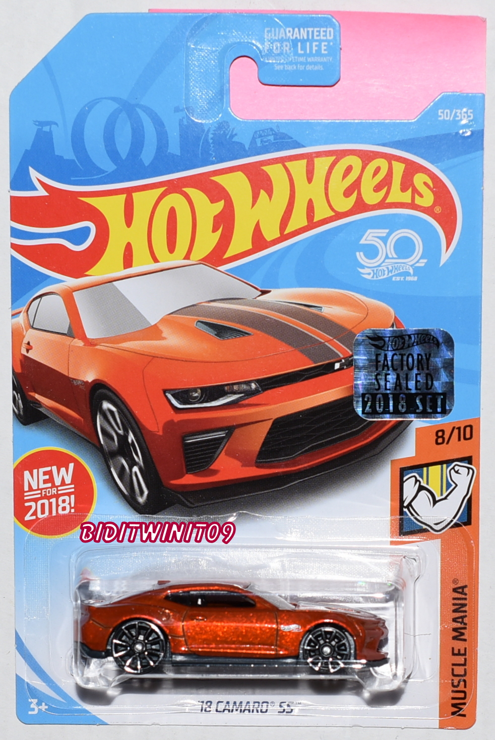 HOT WHEELS 2018 MUSCLE MANIA '12 CAMARO SS #8/10 FACTORY SEALED