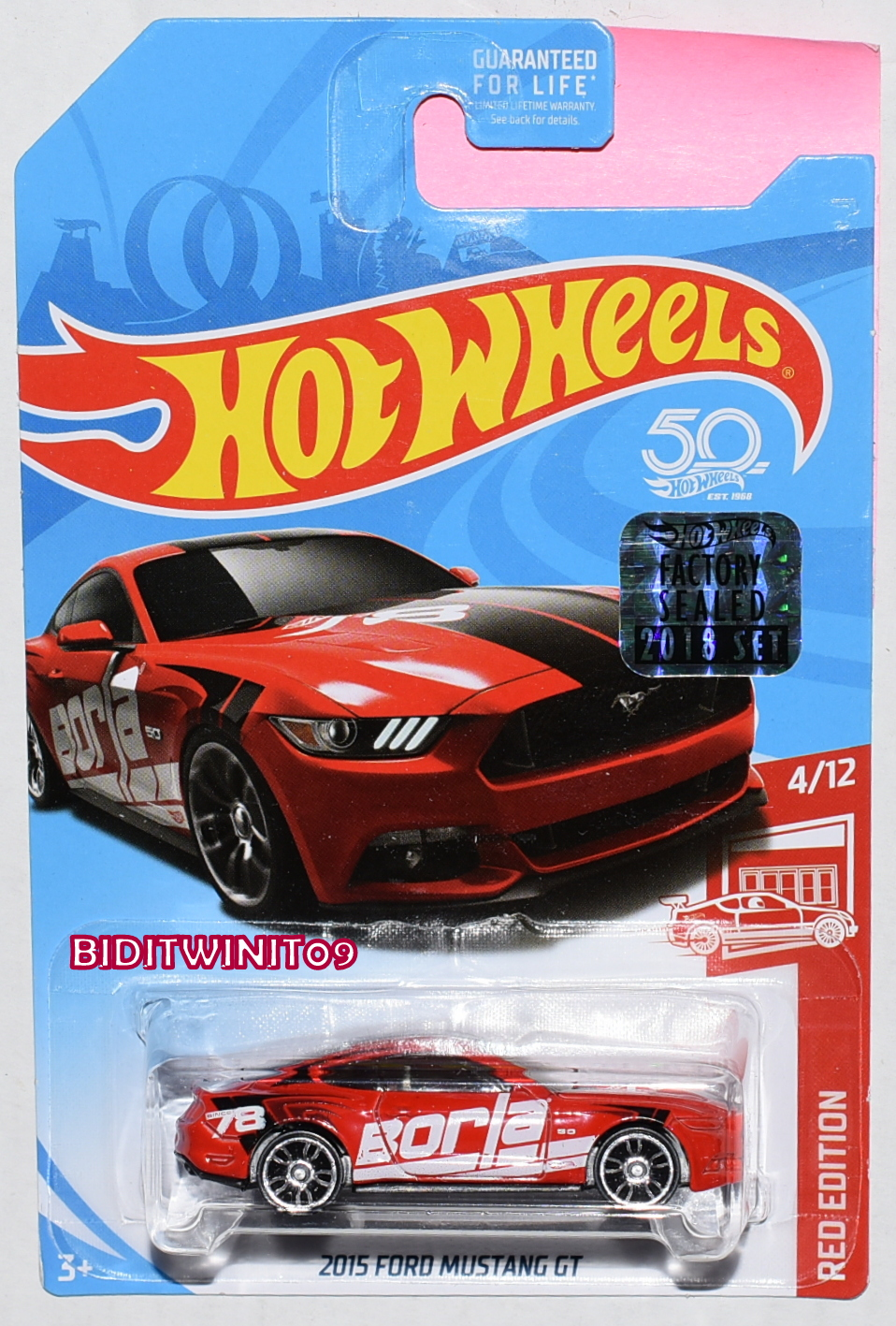 HOT WHEELS 2018 RED EDITION 2015 FORD MUSTANG GT TARGET EXCLUSIVE
