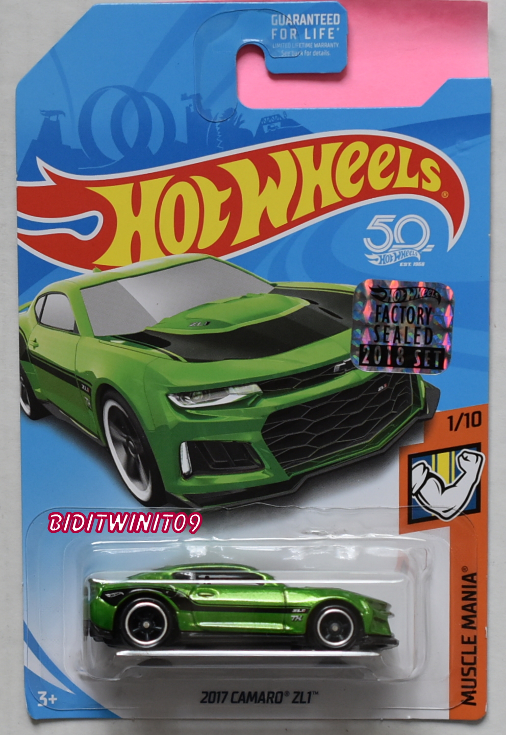 HOT WHEELS 2018 SUPER TREASURE HUNT 2017 CAMARO ZL1 MUSCLE MANIA FACTORY SEALED