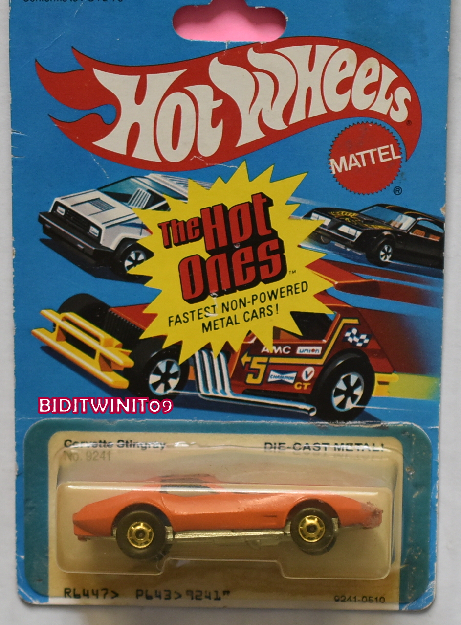 HOT WHEELS THE HOT ONES 1980 CORVETTE STINGRAY BAD CARD E+