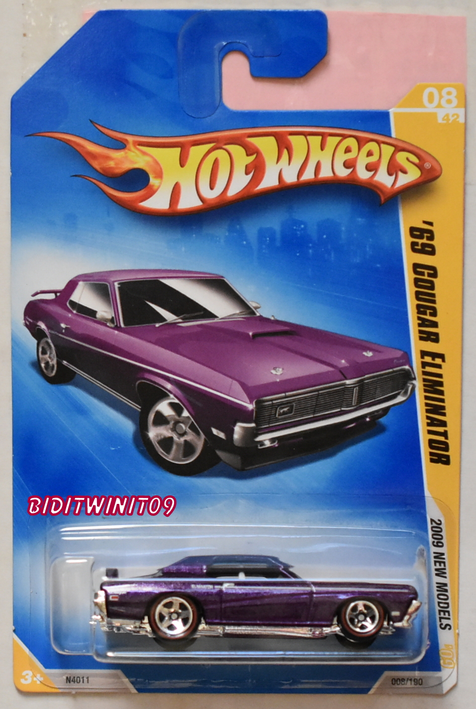 HOT WHEELS 2009 NEW MODELS '69 COUGAR ELIMINATOR #08/42