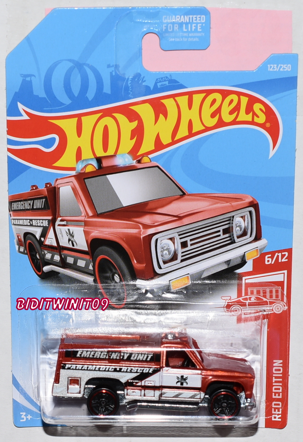 HOT WHEELS 2019 RED EDITION HW RAPID RESPONDER TARGET EXCLUSIVE