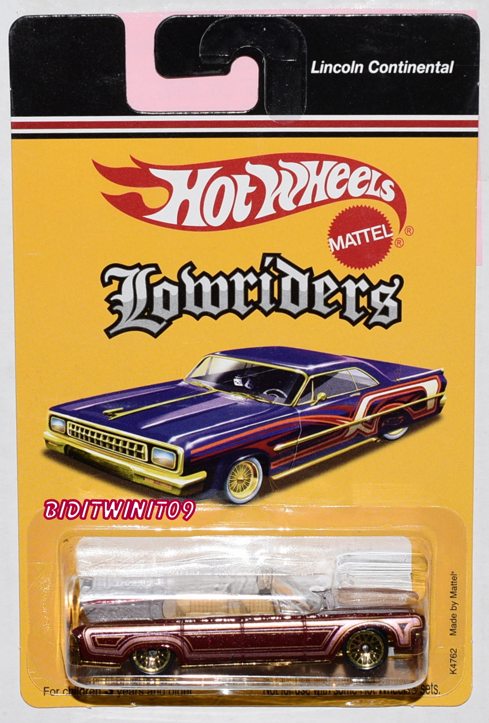 HOT WHEELS LOWRIDERS LINCOLN CONTINENTAL