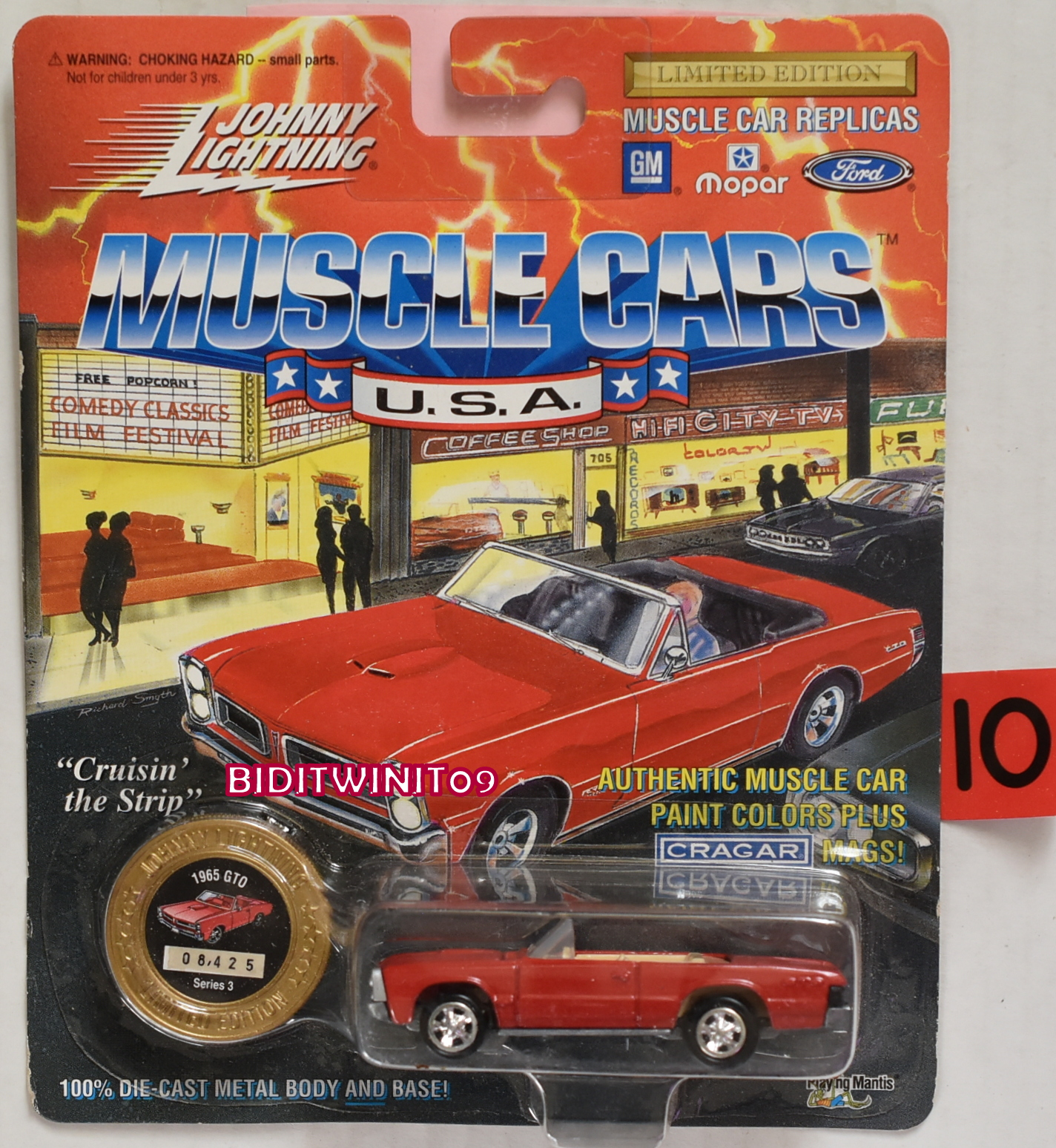 1994 JOHNNY LIGHTNING MUSCLE CARS 1965 GTO SERIES 3 RED