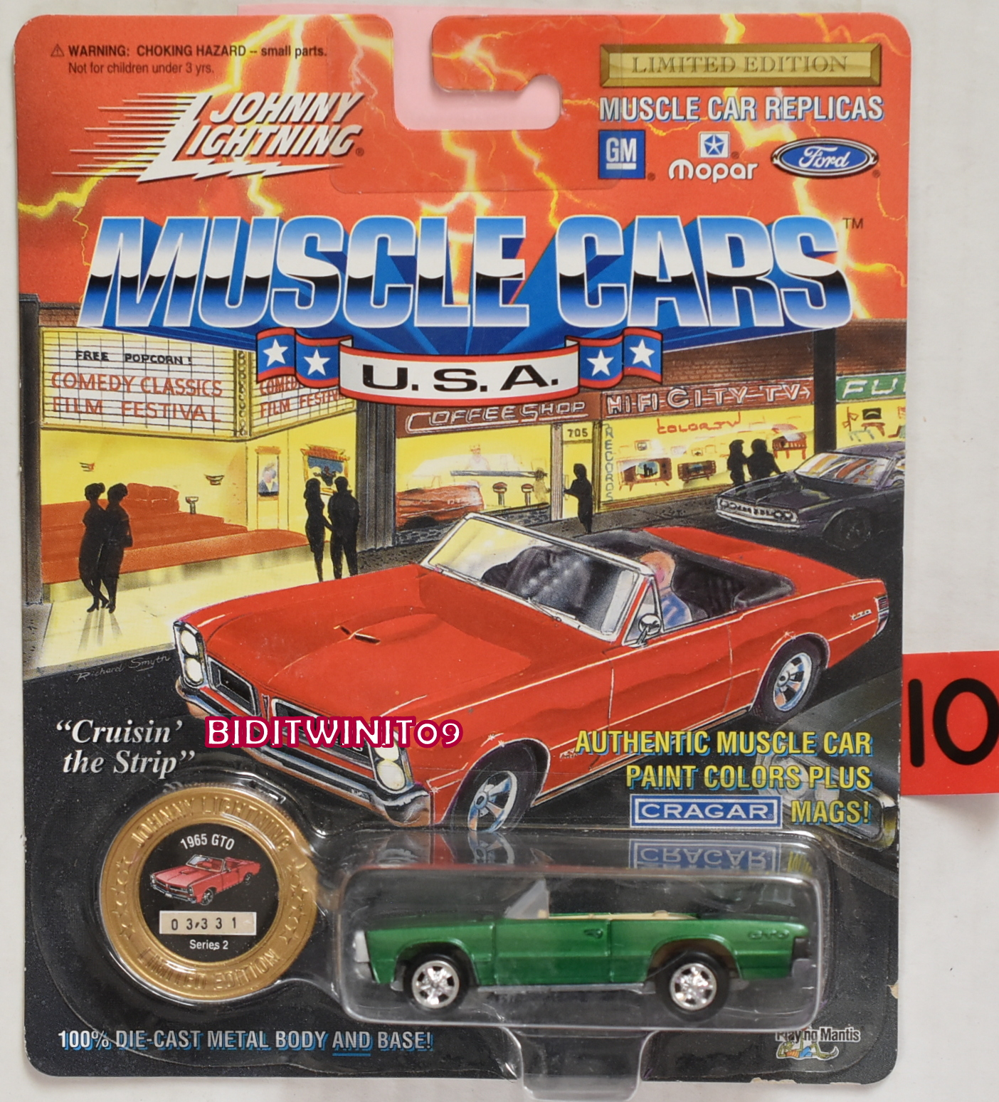 1994 JOHNNY LIGHTNING MUSCLE CARS 1965 GTO SERIES 2 GREEN