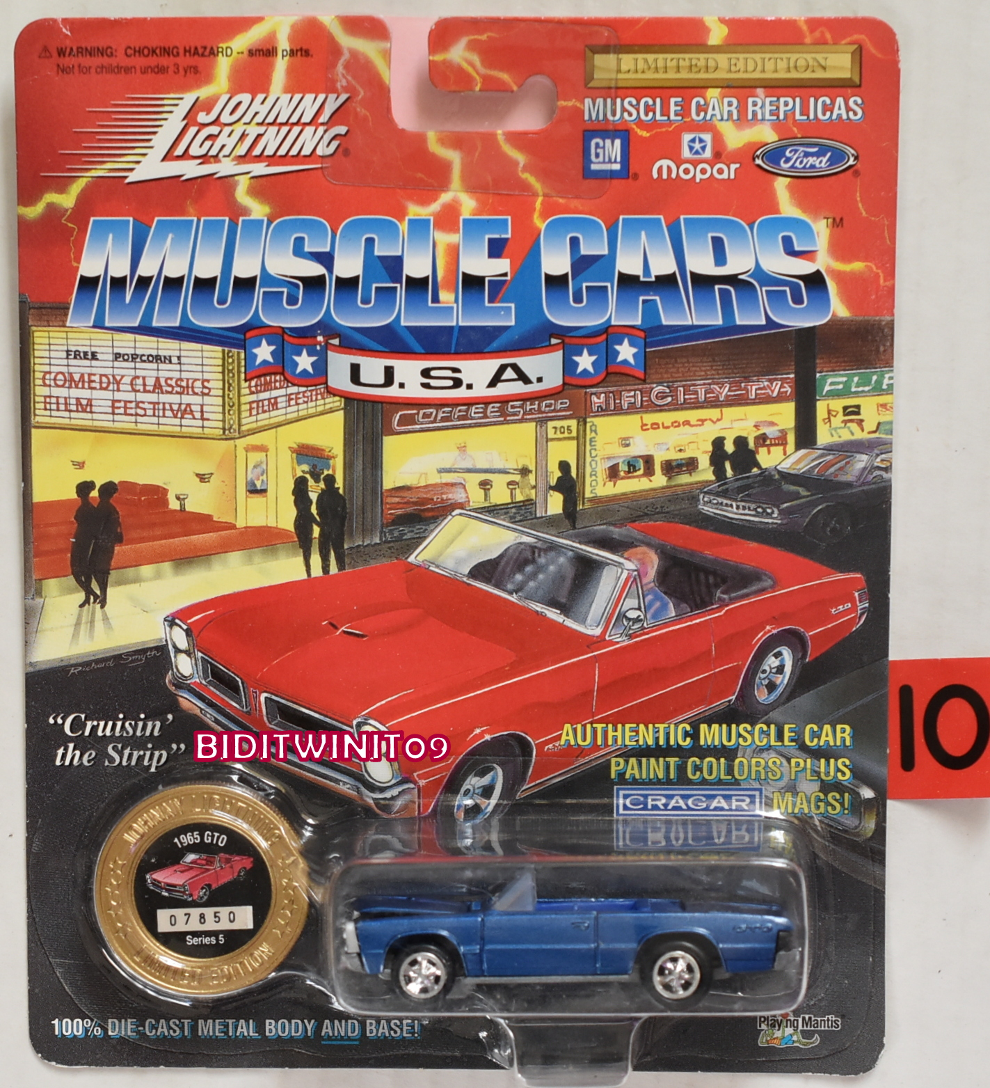 1994 JOHNNY LIGHTNING MUSCLE CARS 1965 GTO SERIES 5 BLUE E+