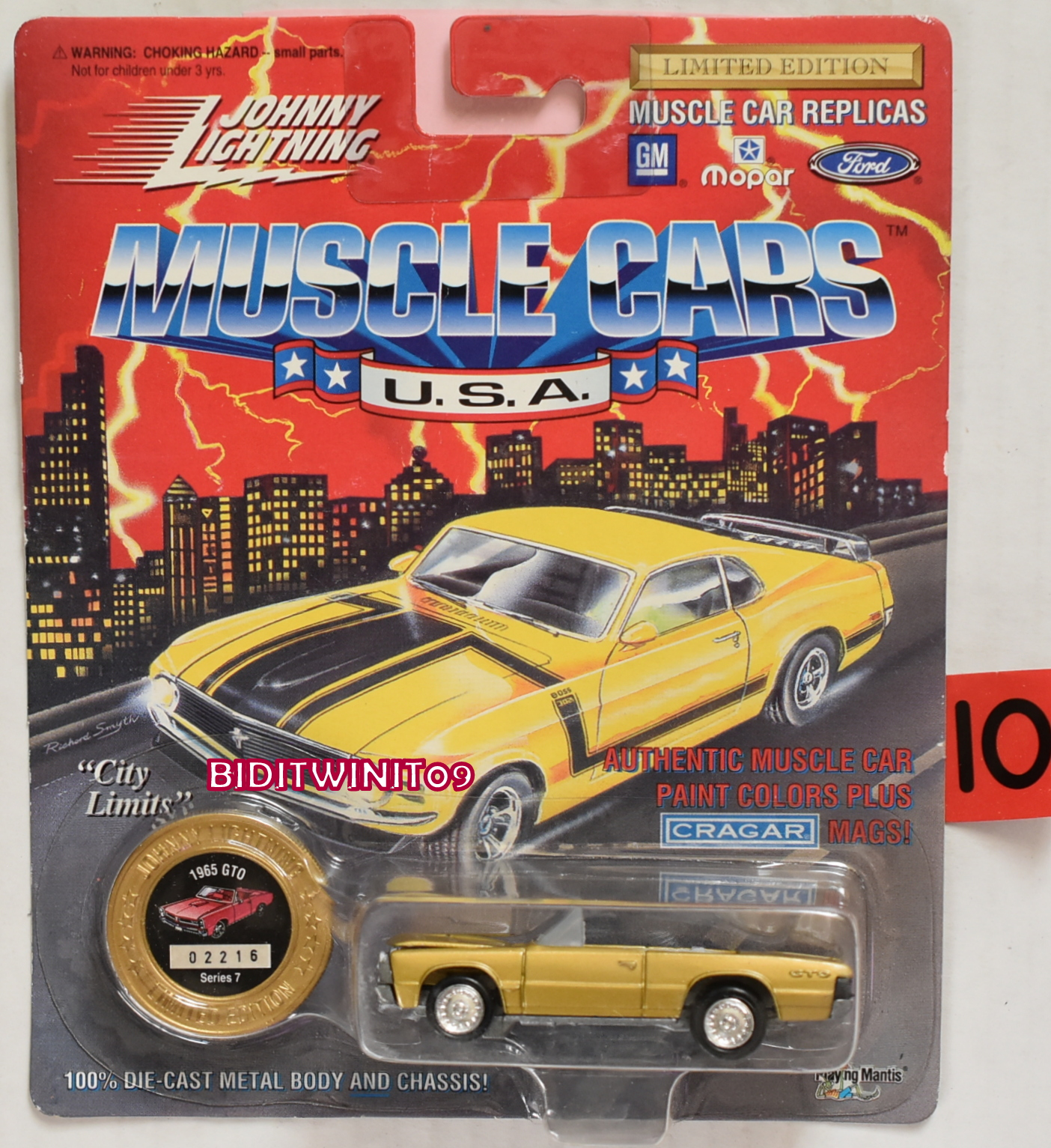 1994 JOHNNY LIGHTNING MUSCLE CARS 1965 GTO SERIES 7 YELLOW