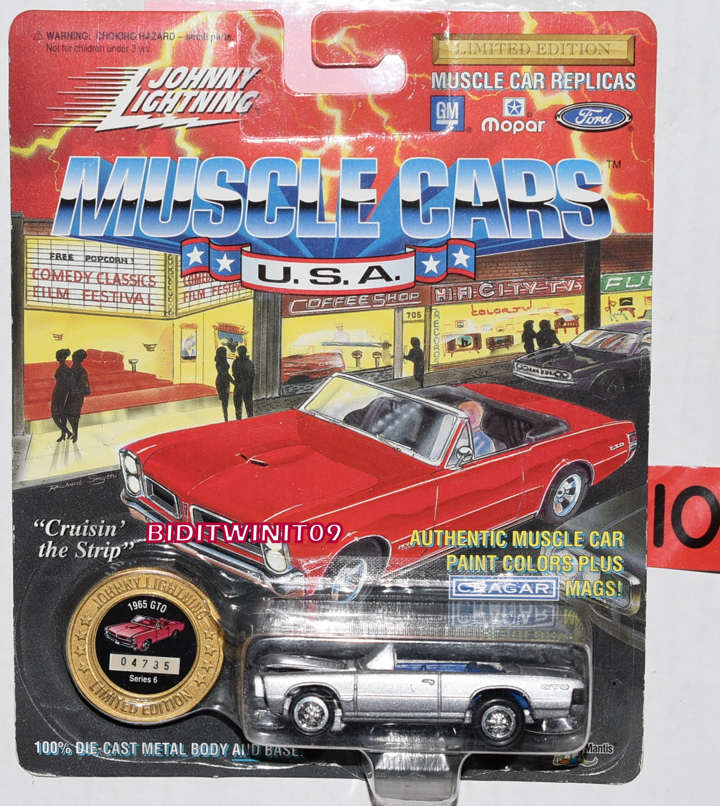 1994 JOHNNY LIGHTNING MUSCLE CARS - 1965 GTO SILVER - SERIES 6
