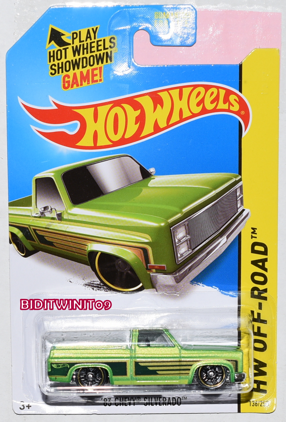 HOT WHEELS 2014 HW OFF-ROAD '83 CHEVY SILVERADO KMART EXCLUSIVE GREEN