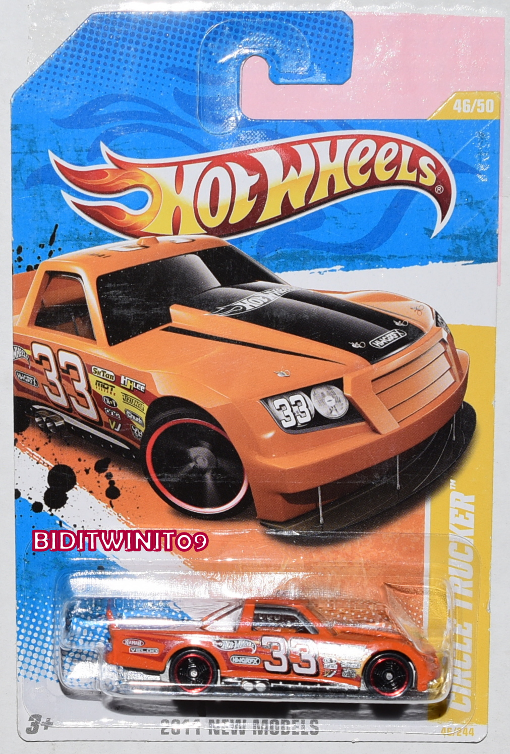 HOT WHEELS 2011 NEW MODELS CIRCLE TRUCKER #46/50 ORANGE