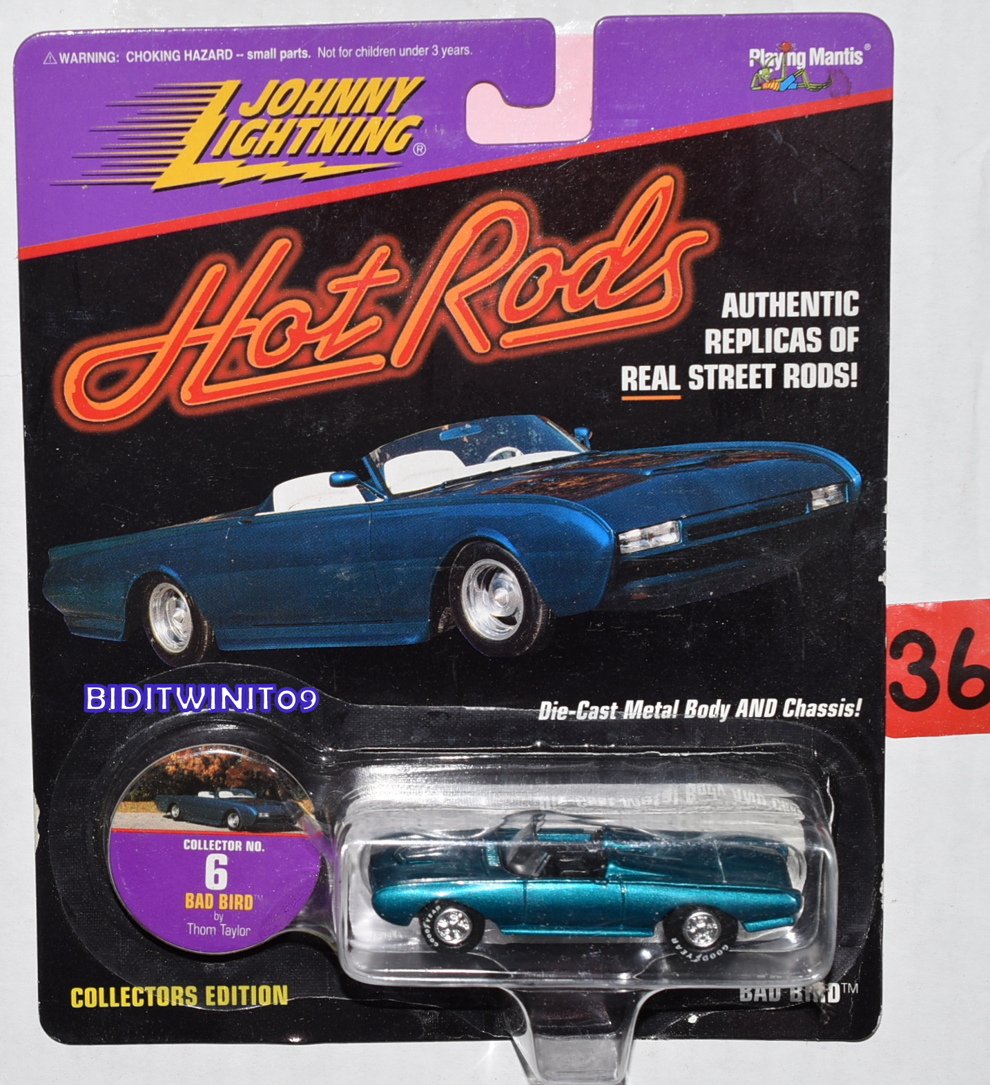 JOHNNY LIGHTNING HOT RODS #6 BAD BIRD BY THOM TAYLOR