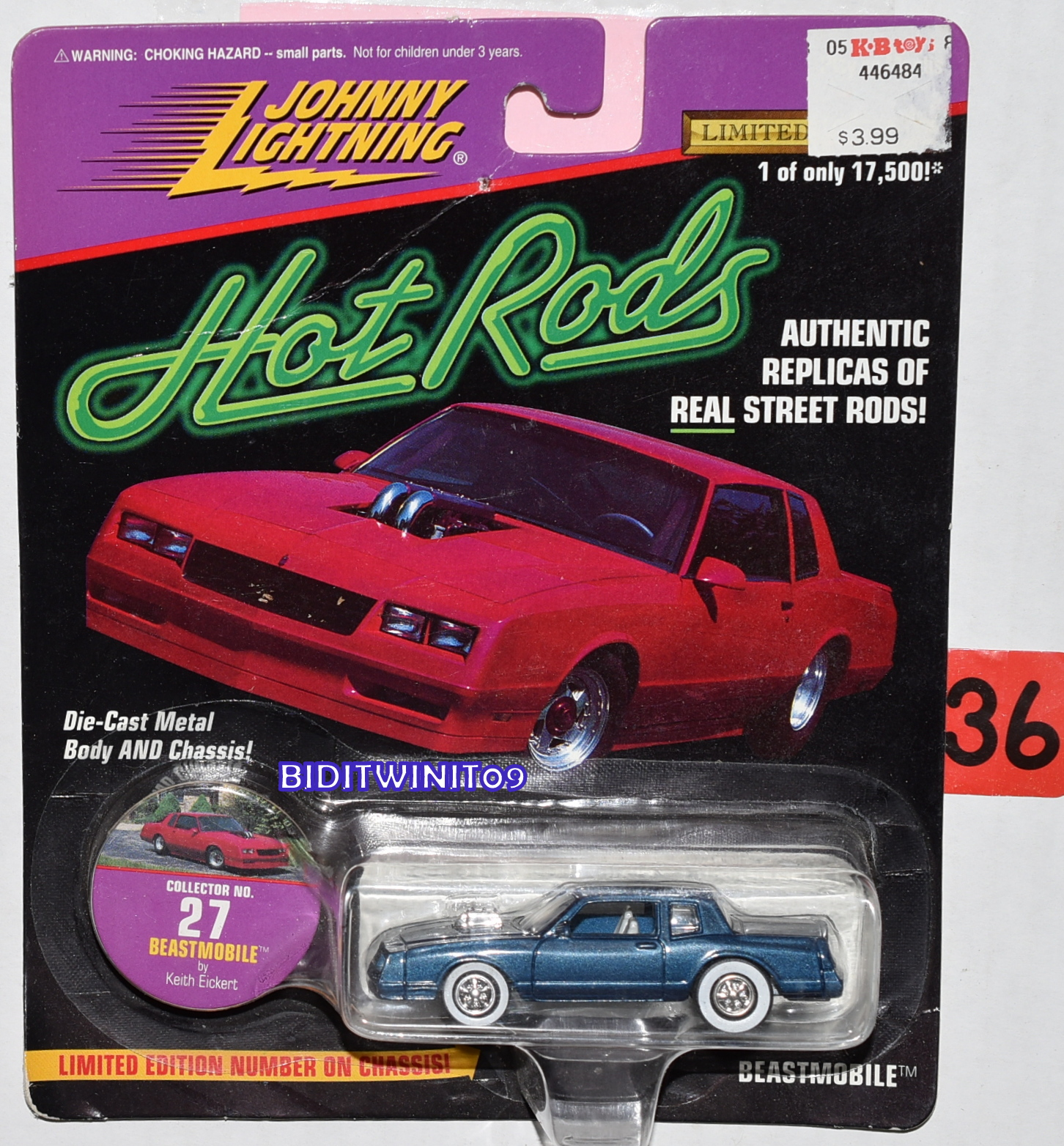 JOHNNY LIGHTNING HOT RODS BEASTMOBILE #27 LIMITED EDITION