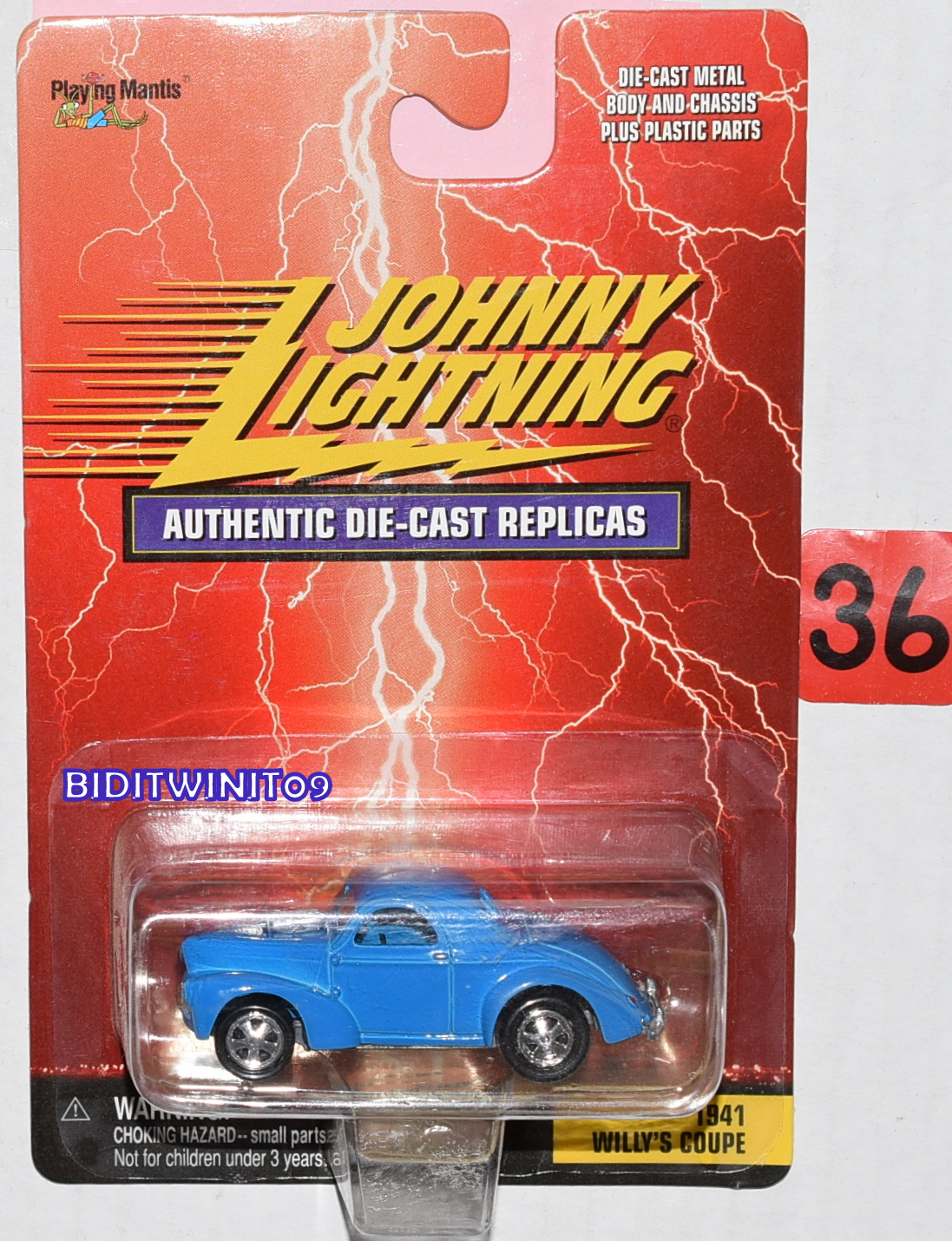 JOHNNY LIGHTNING AUTHENTIC DIE CAST REPLICAS 1941 WILLY'S COUPE BLUE